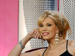"12/13/2002. Amanda Lear on stage of Match Tv ""Tendance Amanda""."
